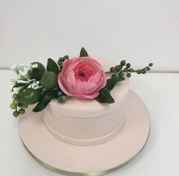mini bolo 2 Mini bolo {com flores}