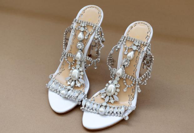 sapato marchesa 3 Sandálias para as noivas