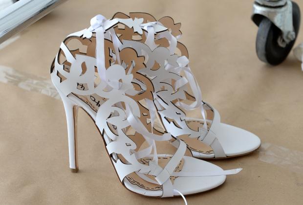 sapato marchesa Sandálias para as noivas
