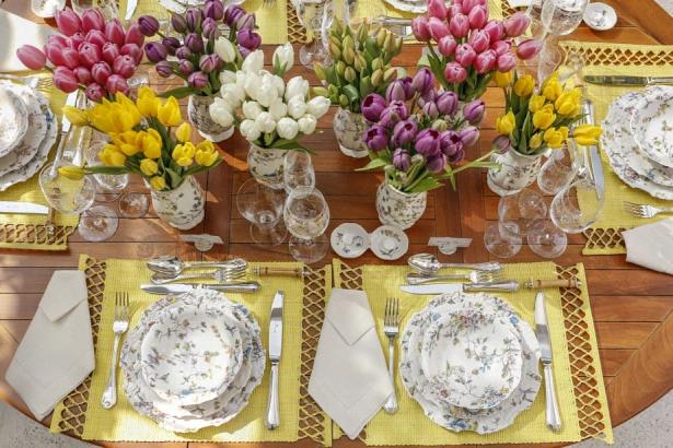 tulipas 14 Tulipas para o centro da mesa