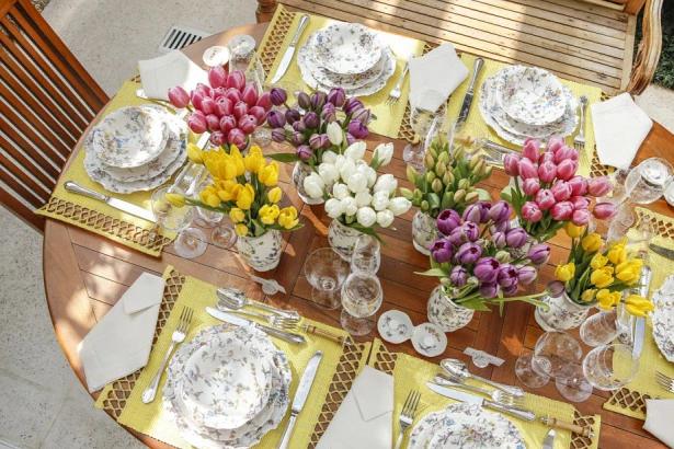 tulipas 15 Tulipas para o centro da mesa