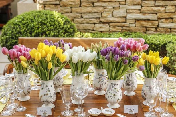 tulipas 3 Tulipas para o centro da mesa