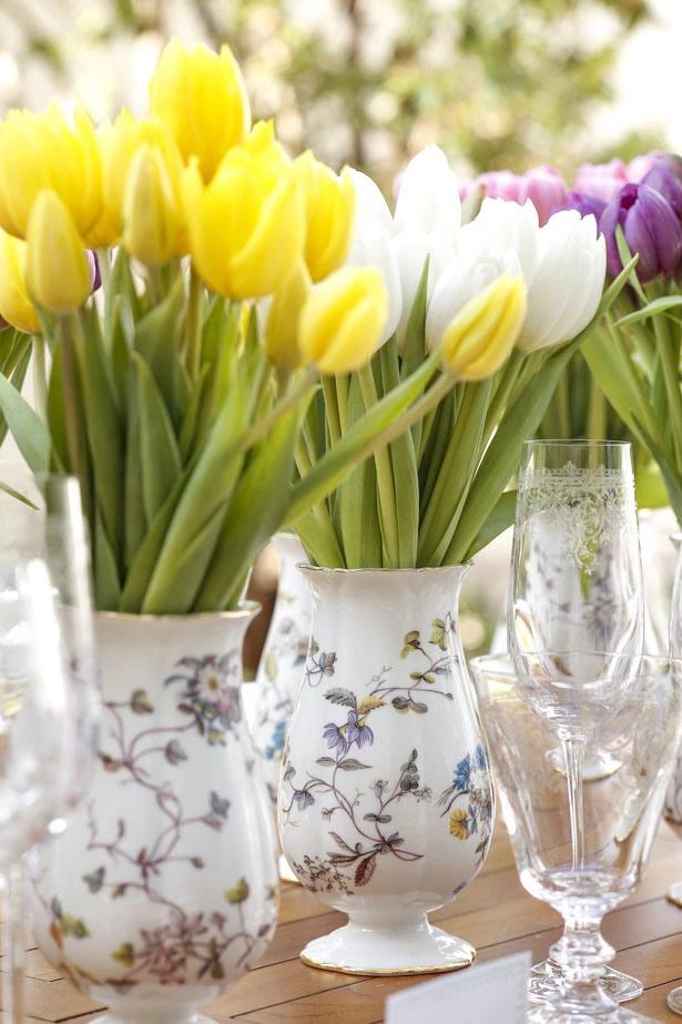 tulipas 5 Tulipas para o centro da mesa