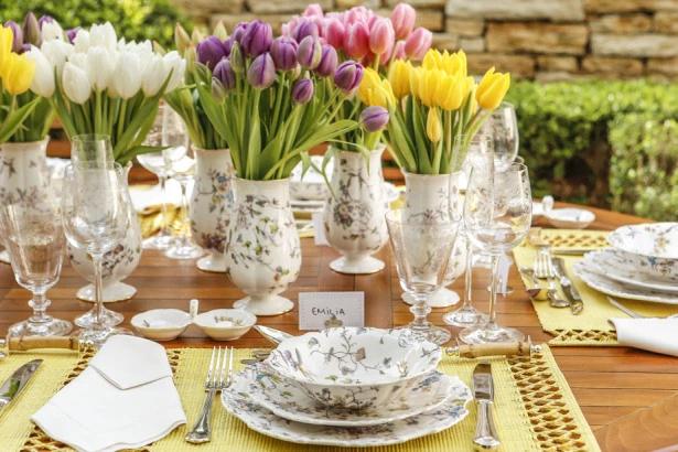 tulipas 6 Tulipas para o centro da mesa