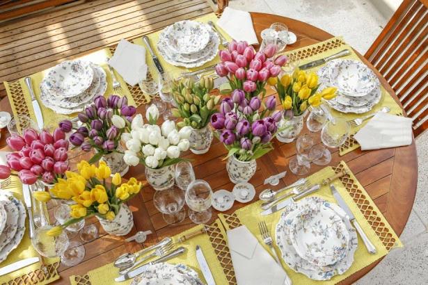 tulipas Tulipas para o centro da mesa