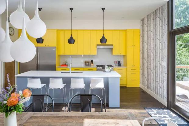 amarelo casa vogue Detalhes em amarelo