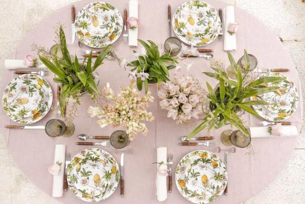 mesa de almoco 1 Mesa para o almoço {por Vamos Receber}