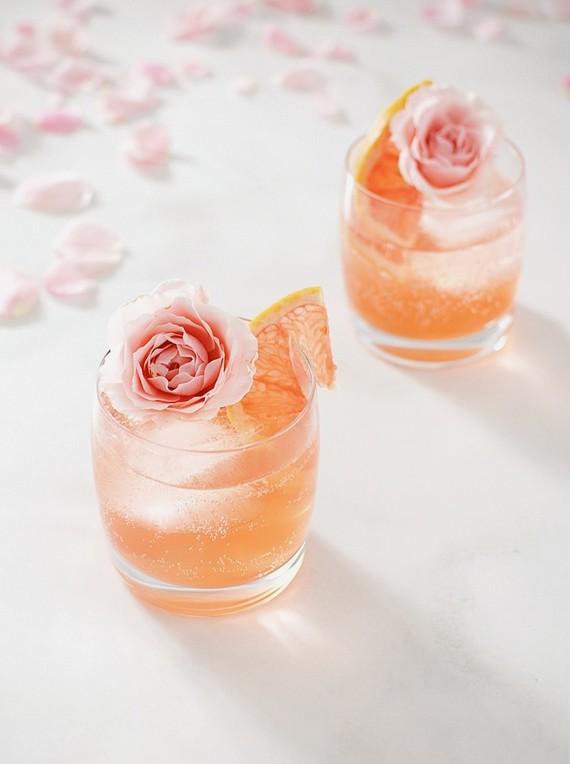 apresentacao dos drinks Apresentação de drinks {com flores}